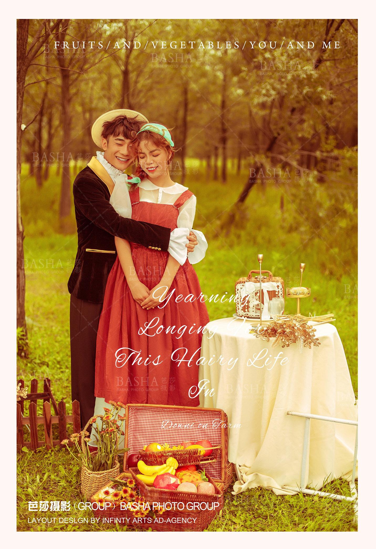 法式复古婚纱照